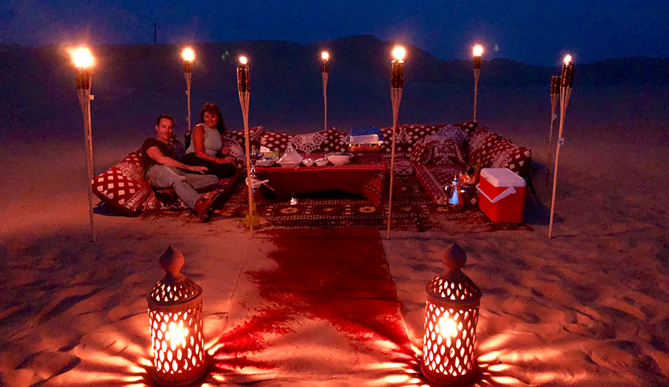 Private Sunset Dune Dinner Abu Dhabi